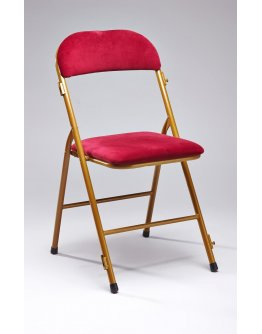 Chaise velours rouge