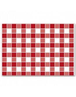 Set de table Vichy Rojo par 500