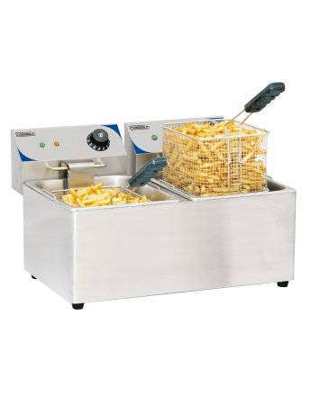 Friteuse double bac 2x8litres