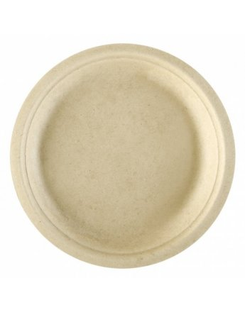 Assiette pulpe naturel 18cm par 50