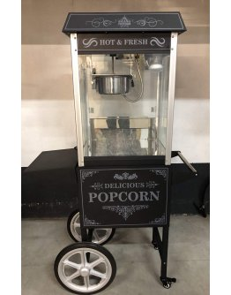 Machine à pop corn sur chariot
