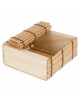 Boite bambou 8,5x8,5cm