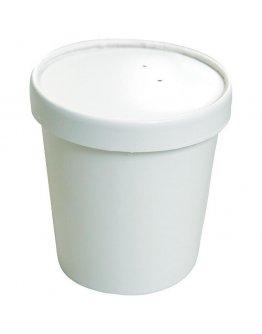 Pot soupe carton 48cl avec couv. par 25