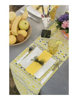 Chemin de table Ethnique Jaune 3m