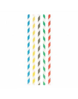 Pailles Droites Carton Couleur Ø 0,8x23,5 par 100