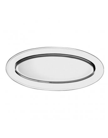 Plat oval 80cm inox