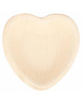 Assiette palmier coeur 10x10cm par 25