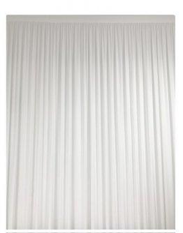 Paravent 4x3m - 1structure + 2 rideaux lycra blanc