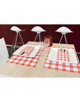 Set de table Vichy Rojo par 500